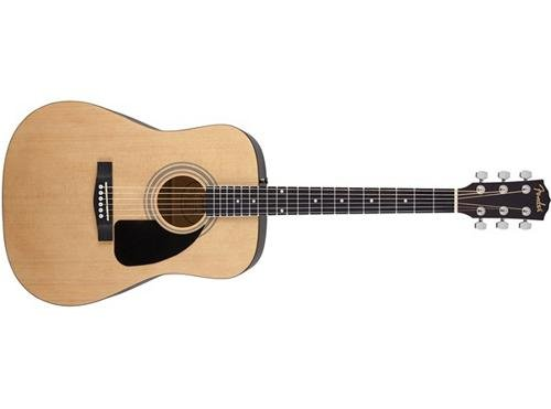 Fender FA-100 Beginner Acoustic Guitar with Gig Bag, Dreadnought Body Style, Natural Finish