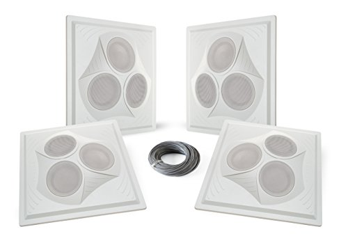 Pure Resonance Audio VCA8 – Vector Ceiling Speaker Array 120 Watts 8 Ohm (4 Speakers + Wire)
