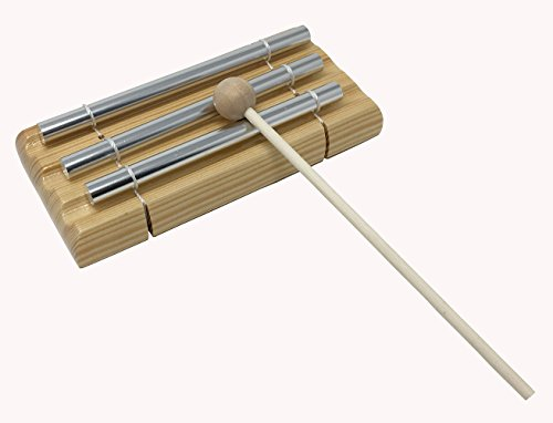 Ladnis Trio Energy Chime with Wooden Mallet For Meditation,Eastern Energies, Yoga, Percussion Musical Chime for Children, Teachers' Classroom Bell