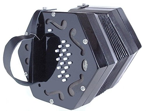 NEW Concertina Connection Elise Hayden Duet Concertina Black M 34 Button