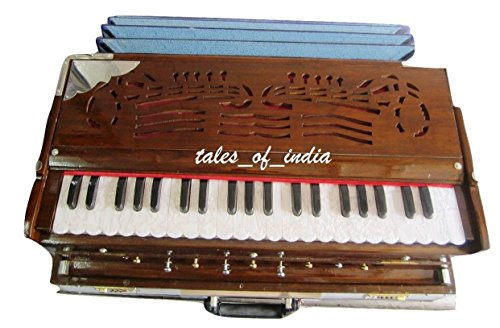 Brand New Portable Concert Harmonium~9 Stopper~3 1/2Octave~Teak Wood~Double Reed