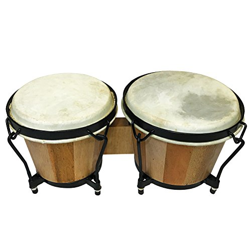 Bongo Drums Set Tunable With Tuning Wrench And Optional Wooden Mallet