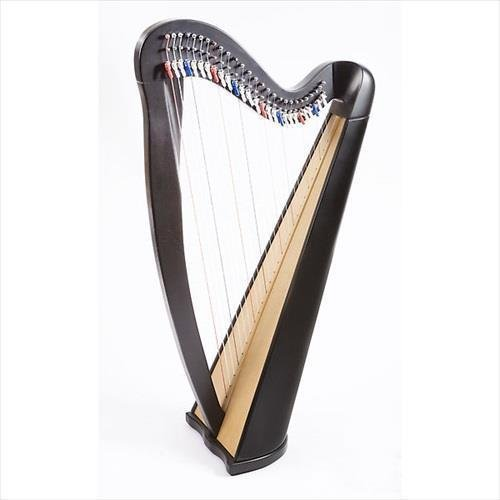 EMS Heritage 27 String Celtic Harp With Semitone Levers In Black