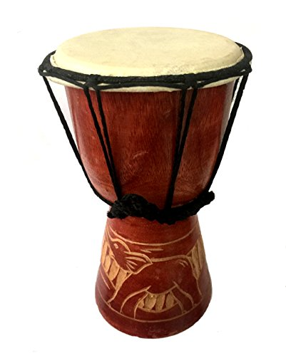 HAND CARVED DJEMBE DRUM 9″