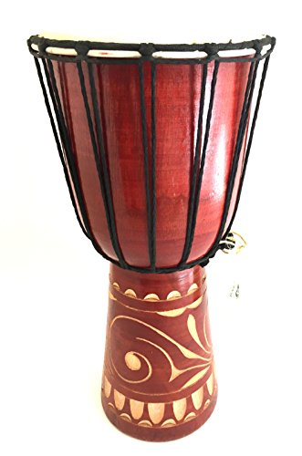 Djembe Drum African Bongo Drum Hand Drum LARGE SIZE 16″ – Jive Brand – PROFESSIONAL SOUND/QUALITY – Carved