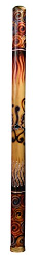 Didgeridoo Bamboo burned-painted 47″ long (With Bag)