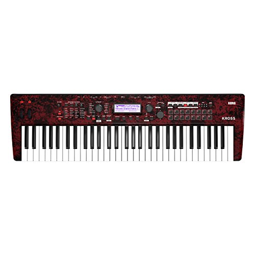 Korg KROSS2 61-Key Synthesizer Workstation – Red Marble Limited Edition Color!
