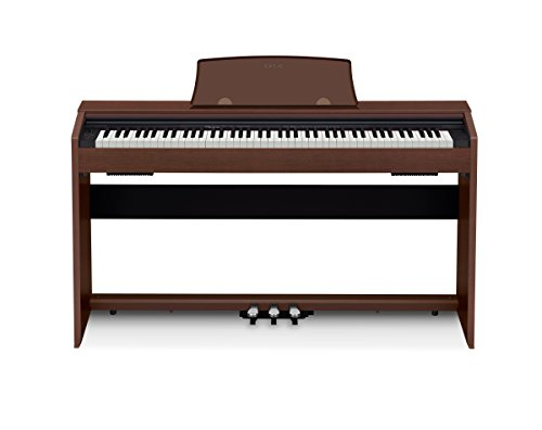Casio PX-770 Brown Privia Digital Home Piano, Brown