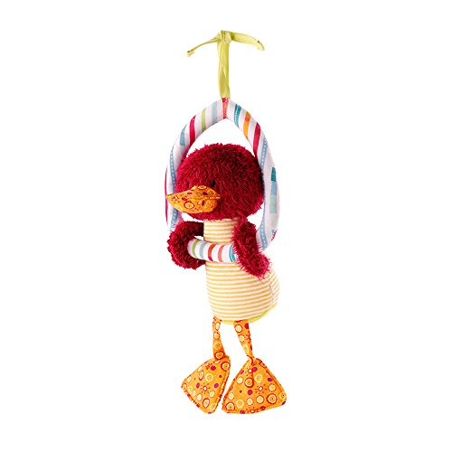 Lilliputiens Hugues Rain Stick – Duckling on Trapeze Dangling Toy for Birth and Up