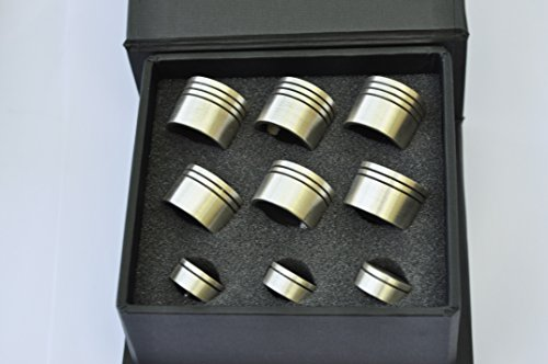Trumpet Trim Kit for improving the sound. for all Bach Stradivarius Trumpet. Custom made KGUBrass (HEAVY V6, Brushed Silver Plated)