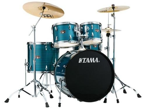 Tama Imperialstar 5-Piece Complete Drum Kit with Meinl HCS Cymbals – FREE PROMO CYMBAL PACK – Hairline Blue