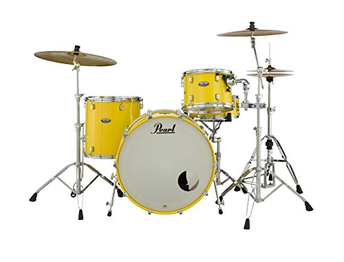 Pearl Decade DMP943XP/C228 3 Piece Drum Shell Pack, Solid Yellow