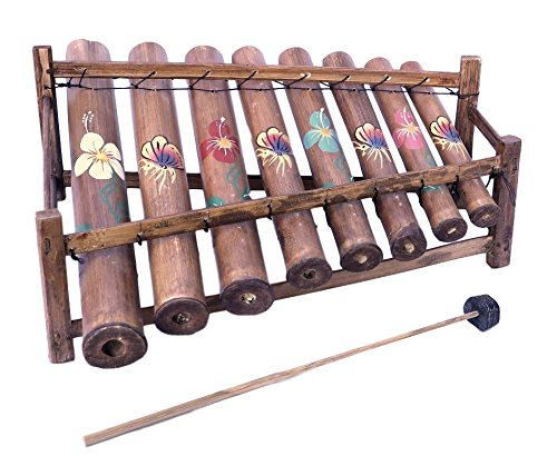 Handmade Bamboo Painted Xylophone From Bali