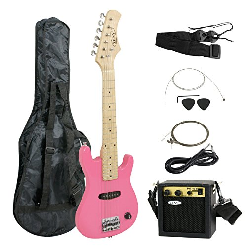 ZENY 30″ Kids Pink Electric Guitar with Amp & Much More Guitar Combo Accessory Kit