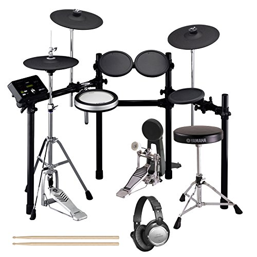 Yamaha DTX532K Electronic Drum Set BUNDLE with Pedal, Throne, Headphones, and Drum Sticks