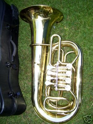 Tuba with hard case and Mouthpiece, 4 rotary valve, BBb key