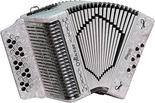 SofiaMari Alacran Accordion with case and straps White Sol/GCF