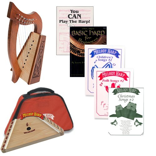 Homeschool Music Melody Harp & Lily Harp Bundle w/Mega Book Pack #2