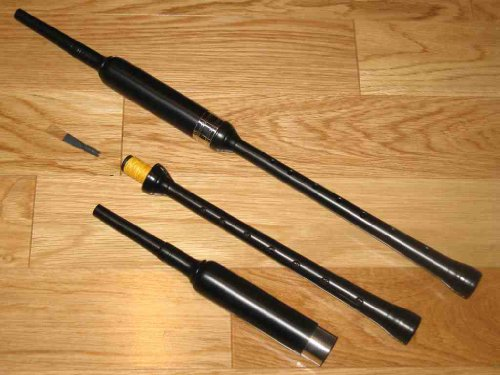 Bagpipe Practice Chanter Kit (Soutar Standard) with Book, Chanter Case, Spare Reed, Reed Case