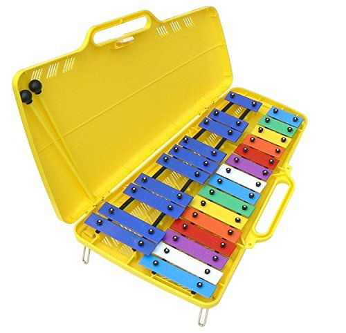 Quatro Percussion 25-Note Xylophone (Glockenspiel) with Case