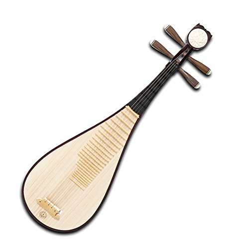 XingHai Hardwood Chinese Lute Traditional National Stringed Instrument Peony Bones Carving PiPa for Adults