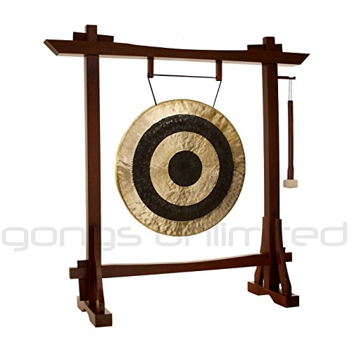 22″ Subatomic Gong on Modern Antique Gong Stand