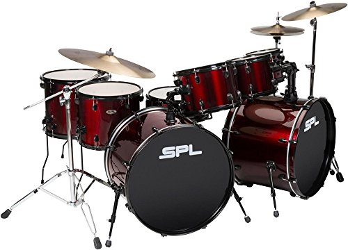 Sound Percussion Labs UNITY 8-Piece Double Bass Drum Shell Pack Wine Red