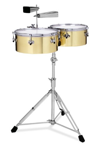 Gon Bops Alex Acuna Series Brass Timbales 14 and 15-inch,