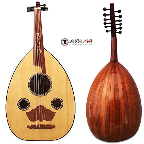 """El-masry Professional Egyptian Oud Lute """"The Egyptian Sun"""" Cat#M4 with Professional Case"""