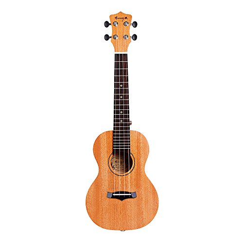Enya KUS25D Soprano Solid Mahogany Ukulele Set with Gig Bag Tuner String Strap For Beginner