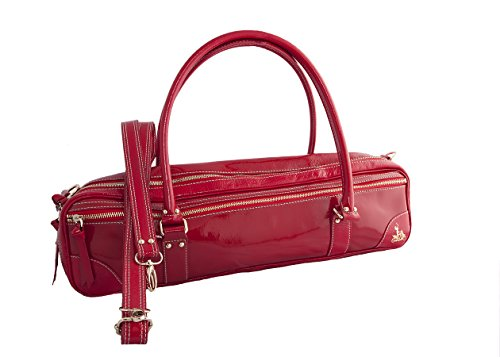 Fluterscooter Red Patent Leather Bag for Flute