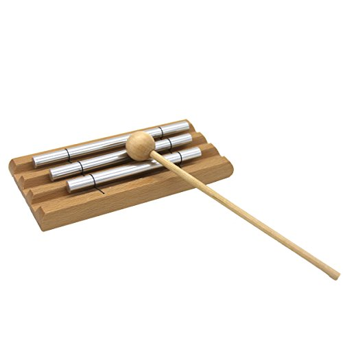 Meditation Chime,Percussion Instrument with Mallet for Prayer, Yoga, Eastern Energies, Musical Chime Toys for Meditation Yoga Perfect Gift Children, Teachers' Classroom Reminder Bell (Three tones)
