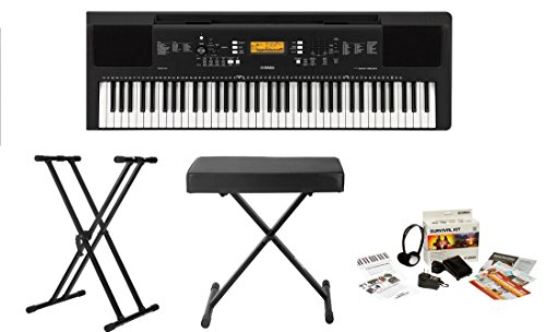 Yamaha PSREW300 76-key Portable Keyboard With Knox Adjustable Stand, Bench & Power Adapter