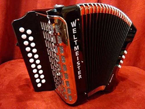 NEW Weltmeister 406 Black Diatonic 21 Button Accordion Model MM Made in Germany(GC)