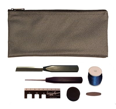 Reed Pros Oboe Reed Making Kit Standard – Light Gray Pouch