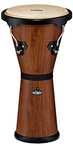 Nino Percussion NINO48WB-M 10-Inch Wooden Djembe – Walnut Brown