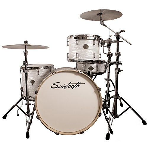 Sawtooth ST-COM-4PC-24-WO Command Series 4-Piece Shell Pack with 24″ Bass Drum, White Oyster