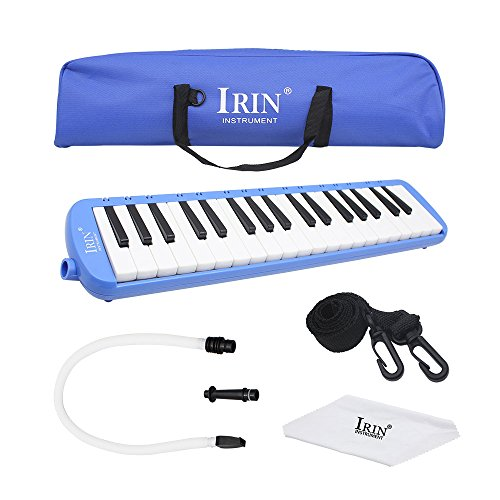 Huayao 37 Key Piano Style Melodicas Music Instrument With Deluxe Carrying Bag (Blue)