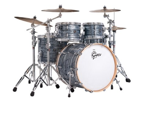 Gretsch New Renown Maple 4-Piece Euro Drum Set Shell Pack – Silver Oyster Pearl