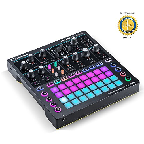 Novation Circuit Mono Station Paraphonic Analog Synthesizer and Sequencer with 1 Year Free Extended Warranty