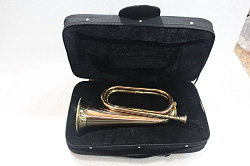 Bugle Brass With Bugle Instrument W/Case Gold