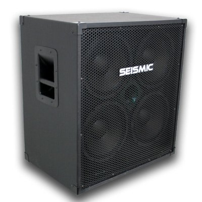 Seismic Audio – 410 Bass Guitar Speaker Cabinet with Horn and Volume Control PA DJ 400 Watts 4×10 4 10