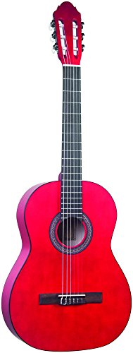 Lucida LG-400-1/2RD Student Classical Guitar, Red, 1/2 Size