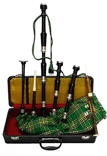 Great Highland Full Set of Bagpipe Made of Rose Wood With Nickel Sliver Mounts & Hard Case.