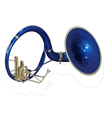 eMusicals Sousaphone 21″ Bell Bb Pitch With Free Carry Bag and MouthPiece , Blue Color + Brass