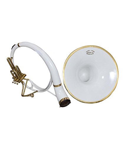 eMusicals Sousaphone 21″ Bell Bb Pitch With Free Carry Bag and MouthPiece ,White Colored