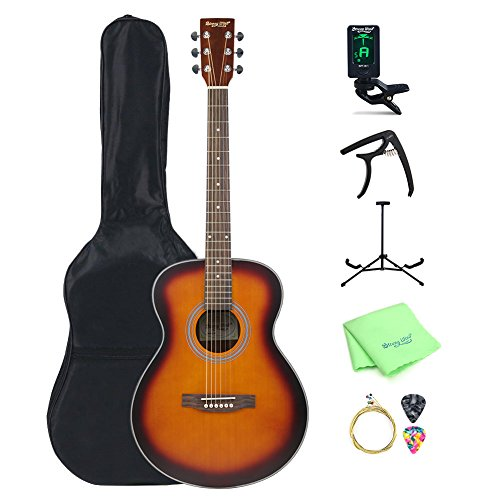 Acoustic Guitar Full Size, Strong Wind 40 inch Dreadnought 6 Steel String Acoustic Guitar Bundle Starter Kit