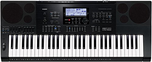 Casio CTK7200 61-Key Portable Keyboard Bundle with 16GB SD Card, Instrument Cable, Sustain Pedal, Headphones and Polishing Cloth