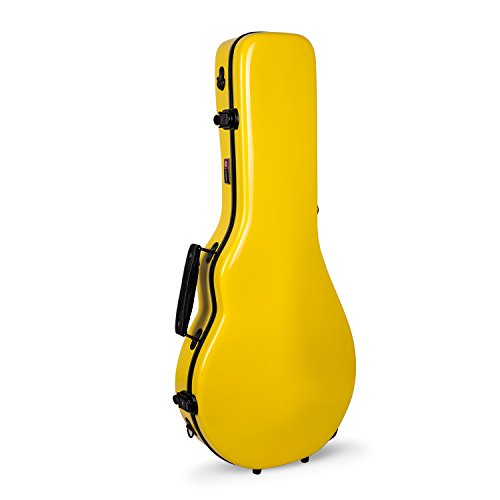Crossrock CRF1000MAFYL Fiberglass Mandolin Case, Fit for Both F Style & A Style,Yellow