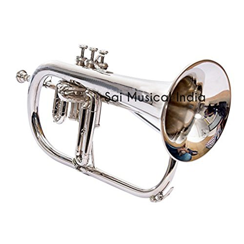 Queen Brass Stuning And Stylish Flugel Horn, Bb Pitch With 3 Valve Made Of Nickel MI 086